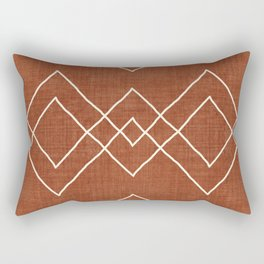 Nudo in Rust Rectangular Pillow