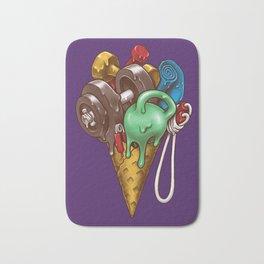 Ice Cream Workout Bath Mat