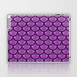 Purple mermaid scale with  glitter effect Laptop & iPad Skin