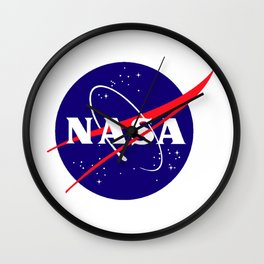 """The Official NASA """"Meatball"""" Logo (and licensed!) Wall Clock"""