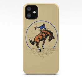 Full Moon Bronc & Cowboy iPhone Case