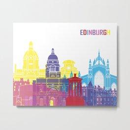 Edinburgh skyline pop Metal Print