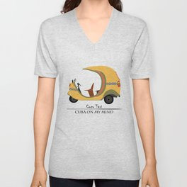 Coco Taxi - Cuba in my mind Unisex V-Neck
