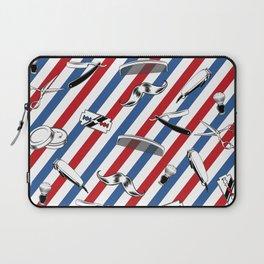 Barber Shop Pattern Laptop Sleeve