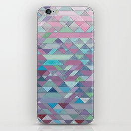 Triangle Pattern no.3 Violet iPhone Skin