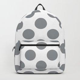 Grey Large Polka Dots Pattern Backpack