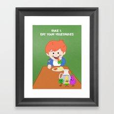 Rule #1: Eat your vegetables Framed Art Print