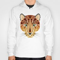 leopard Hoodies featuring leopard by Manoou