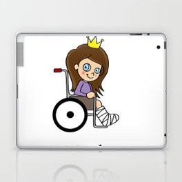 Princess on wheels Wheelchair Daughter funny gift Laptop & iPad Skin