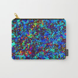 Blue Splash Abstract Watercolor Painting Carry-All Pouch