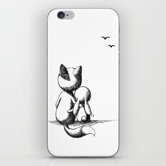 Fox and a rabbit iPhone & iPod Skin