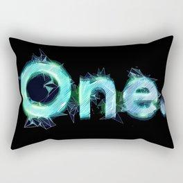 One Logo with tech details - Illustration Rectangular Pillow