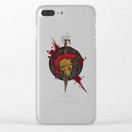Heroic Spartan Emblem | Warrior Fighter Clear iPhone Case