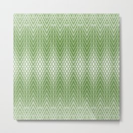 Cool Lime Green Frosted Geometric Design Metal Print