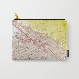 Vintage Map of Burbank California (1953) Carry-All Pouch