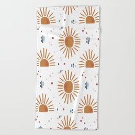 sunbursts Beach Towel