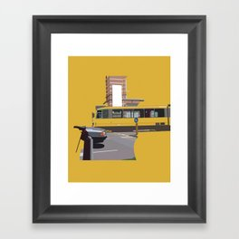 Yellow Tram Framed Art Print