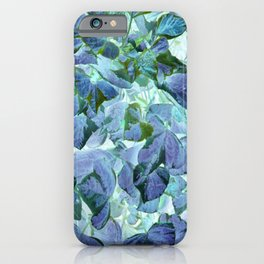 Inverted Art - Blue Leaves iPhone Case
