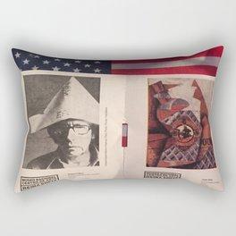 America and Spain Rectangular Pillow