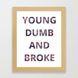 Young Dumb and Broke Khalid Framed Art Print