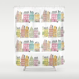 Stockholm houses Shower Curtain