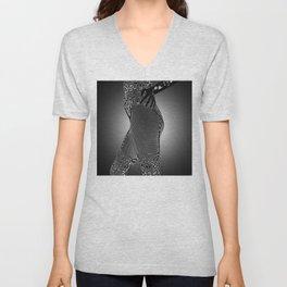 Body Stocking (Black & White) Unisex V-Neck