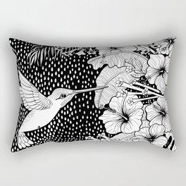 Hummingbird garden Rectangular Pillow