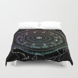 Astrological Magic Circle Duvet Cover