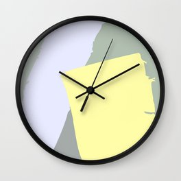 TOME YELLOW - Mid Century Modern Abstract Graphic Design Wall Clock