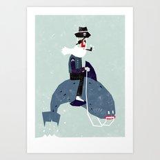 A sea rider Art Print