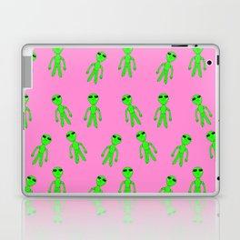 Green Alien Pattern Laptop & iPad Skin