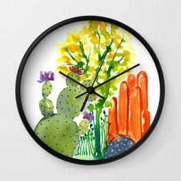 Cactus garden 3 Wall Clock
