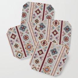 Caucasian Rugs(Stripe) - White Coaster