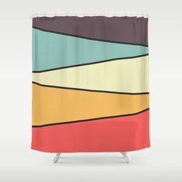 Abstract Graphic Design Pastel Shower Curtain