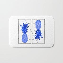 Blue Pineapples design Bath Mat