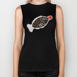 Sushi Soy Fish Pattern in Blue Biker Tank