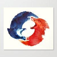 ying yang Canvas Prints featuring Ying yang by Robert Farkas