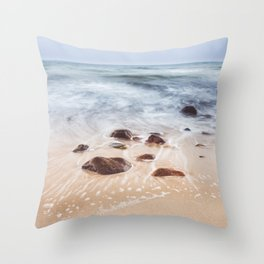 By the Shore - Landscape and Nature Photography Throw Pillow