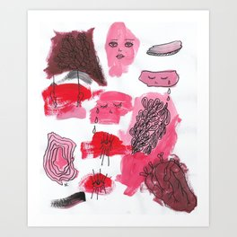 Pink heartbreak Art Print