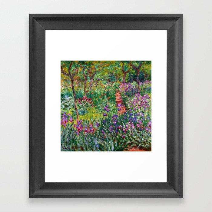 """Claude Monet """"The Iris Garden at Giverny"""", 1899-1900 Gerahmter Kunstdruck"""