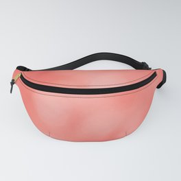 Beautiful peach echo gradient with bokeh Fanny Pack
