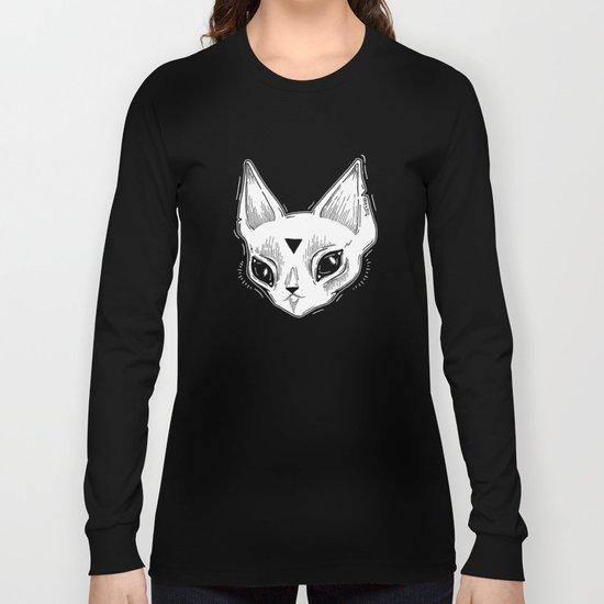 White Kitten Long Sleeve T-shirt