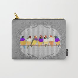 Lady Gouldian Finches Carry-All Pouch