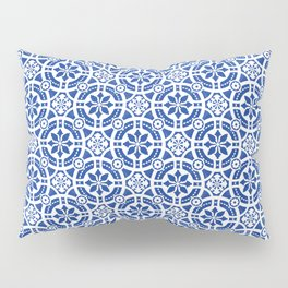 Hand-painted original Portuguese tile Pillow Sham