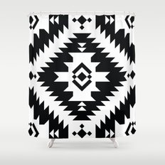 NavNa BW Shower Curtain