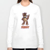 fnaf Long Sleeve T-shirts featuring Freddy Plush by Silvering