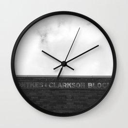 Ontkes & Clarkson Block Drumheller Wall Clock
