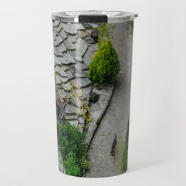 Old town and a cat Travel Mug
