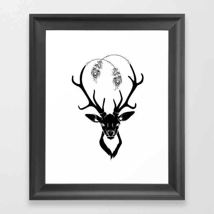 Deer Magic Framed Art Print