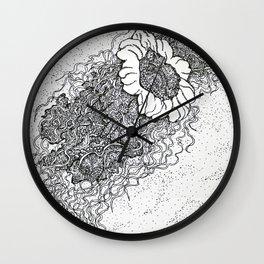 Jellyfish drawing Wall Clock
